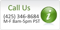Our customer service is available 8-5 PST. Call us at (425) 346-8684.