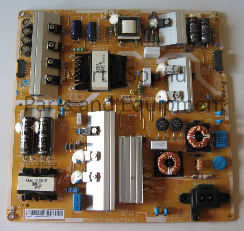 Samsung power board, Front