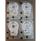 500GB HDD Lot of 4 WD 0264