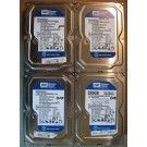 "Lot of 4 Western Digital SATA 3.5"" 320GB 1824"